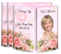 Pink Roses Gatefold Funeral Program Design & Print (Pack of 25)