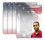 U.S. Flag No Fold Funeral Flyer Design & Print (Pack of 25)