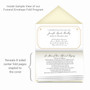 Scallop Frame Envelope Fold Funeral Program Design & Print (Pack of 25)