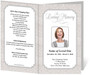 tan Cambria Funeral Program Template