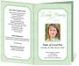 green Cambria Funeral Program Template