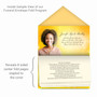 Golden Glow Envelope Fold Funeral Program Design & Print (Pack of 25)