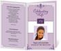 purple Celebrity Funeral Program Template