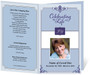 Celebrity Funeral Program Template (5 Colors)