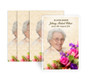 Golden Bouquet Funeral Prayer Card Design & Print (Pack of 25)