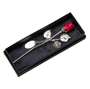 Silver Plated Red Rose In Gift Box