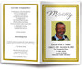 gold Gallant Funeral Program Template