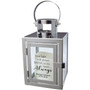 Personalized Heart Always Silver Metal Lantern