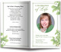 May Funeral Program Template