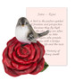 June Rose and Bird Sympathy Figurine and Card