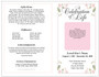 Floret 4-Sided Graduated Funeral Program Template