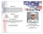 America 4-Sided Graduated Funeral Program Template