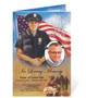 alternative view of policeman funeral program template design