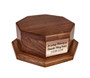 Octagon Wood Urn Stand Base with copper plate