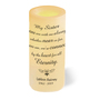Personalized To My Sister Memorial Ivory LED Flameless Candle