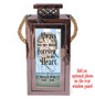 Design Your Own Rose Gold Metal Personalized Memorial Lantern With Rope Handle