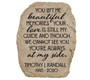 Personalized Beautiful Memories Memorial Garden Stone