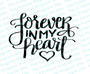 Forever In My Heart Funeral Program Title