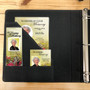 Leatherette Suede Garland 3-Ring Binder Funeral Guest Book inside pocket sleeve