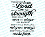 Hope In The LORD Bible Verse Word Art