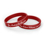 Personalized In Loving Memory Silicone Bracelet - Resting Paradise red