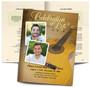 Guitar Funeral Booklet Template
