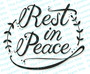 Rest In Peace Funeral Program Title