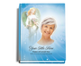 Angelic Perfect Bind 8x10 Funeral Guest Book portrait with photo