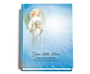 Angelic Perfect Bind 8x10 Funeral Guest Book portrait