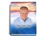 Dusk Perfect Bind Funeral Guest Book 8x10 with photo