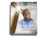 Eternal Perfect Bind Memorial Funeral Guest Book 8x10 with photo