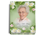 Garden Perfect Bind Memorial Funeral Guest Book 8x10 with photo