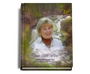 Graceful Perfect Bind Memorial Funeral Guest Book 8x10 with photo