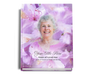 Lavender Perfect Bind Funeral Guest Book 8x10 with photo