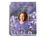 Lilac Perfect Bind Funeral Guest Book 8x10 with photo