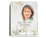 Lily Perfect Bind Funeral Guest Book 8x10 with photo