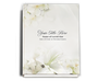 Lily Perfect Bind Funeral Guest Book 8x10