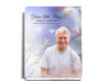 Patriot Perfect Bind Funeral Guest Book 8x10 with photo