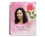 Petals Perfect Bind Funeral Guest Book 8x10 with photo