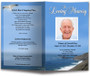 Shoreline Funeral Program Template front