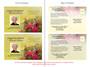 Bouquet Funeral Announcement Postcard Template inside view