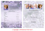 Lilac Funeral Flyer Sheets Template inside view
