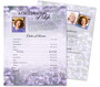 Lilac Funeral Flyer Sheets Template