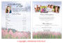 Seasons Funeral Flyer Sheets Template inside view