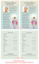 Angelina Half Sheet Funeral Flyer Template inside view
