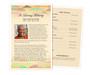Ashanti Half Sheet Funeral Flyer Template