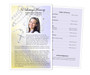 Beads Funeral Flyer Half Sheets Template