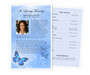 Butterfly Funeral Flyer Half Sheets Template