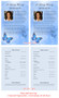 Butterfly Funeral Flyer Half Sheets Template inside view