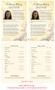 Cherub Funeral Flyer Half Sheets Template inside view